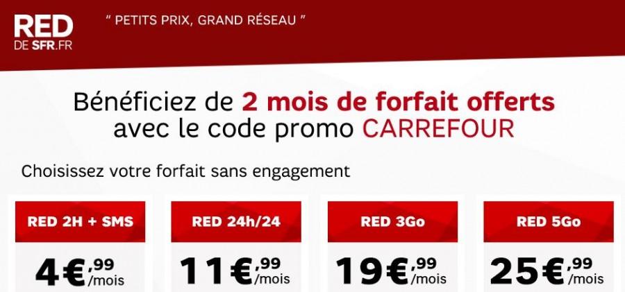 2 mois de forfait SFR RED offerts