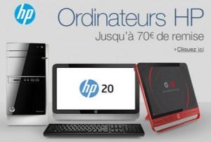 70 euros offerts sur l'achat d'un PC Portables HP / PC de bureau HP