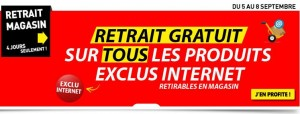 Conforama retrait gratuit en magasin
