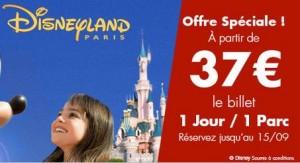 Entree Disneyland pas chere 37 euros