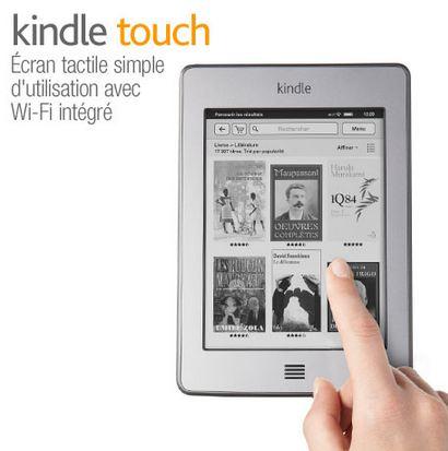 Kindle Touch 6 pouces reconditionnée d'Amazon à 49 euros