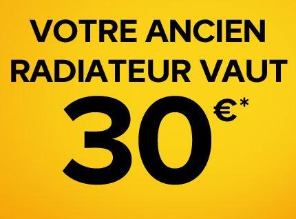 reprise de votre ancien radiateur 30 euros chez castorama pour l achat d un nouveau. Black Bedroom Furniture Sets. Home Design Ideas