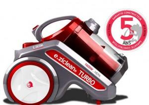 aspirateur sans sac e.ziclean Turbo à moins de 55 euros