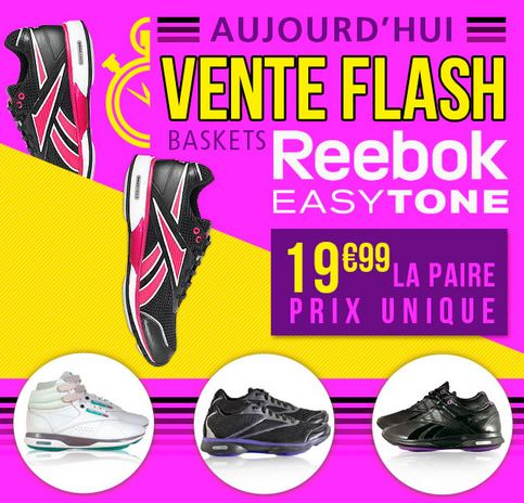 baskets EasyTone Reebok à moins de 20 euros
