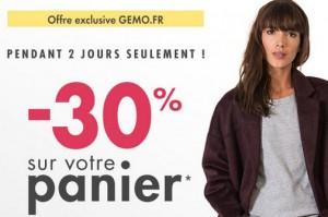 code promo Gemo 30 pourcent