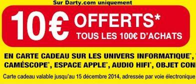 darty 10 euros offerts