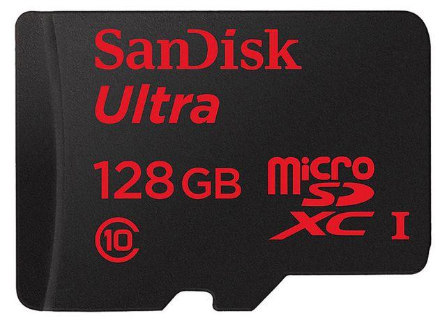microSDXC 128 Go SanDisk Ultra Android à moins de 70 euros