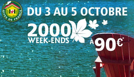 week-ends à 99 euros avec Gites de France