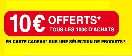 10€ OFFERTS EN CARTE CADEAU