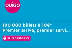 10 euros le billet TGV OUIGO