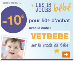 15 jours Bebe Carrefour