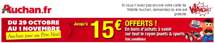 5 euros offerts tous les 50 euros d'achat
