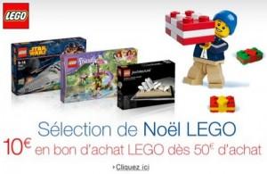 50 euros d'achat LEGO = 10 euros en bon d'achat Amazon