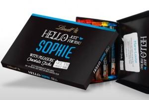 Boîte de chocolats Lindt Hello personnalisées