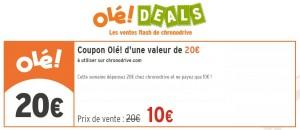 Bon d'achat ChronoDrive 20 euros d'achats pour 10 euros