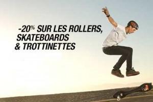 Code promo Skateboard rollers et trottinette