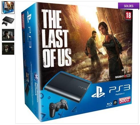 Console PS3 500 Go et The Last Of Us en soldes
