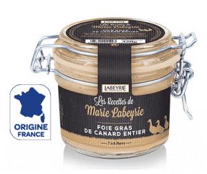 Foie gras de canard entier Marie Labeyrie 320g 4 euros