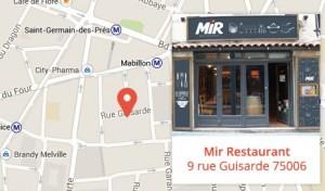 Réservez votre table au Mir Restaurant