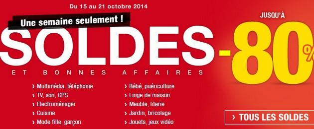 Soldes flottants Auchan 2014 octobre 2014
