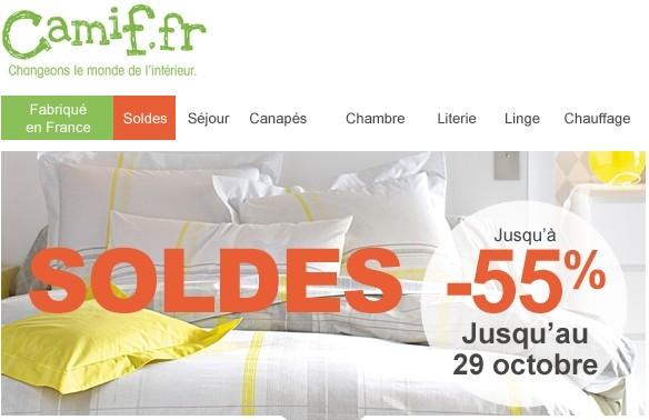 soldes flottants camif chambre literie linge moins cher. Black Bedroom Furniture Sets. Home Design Ideas