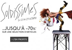 Soldissimes octobre Galeries Lafayette