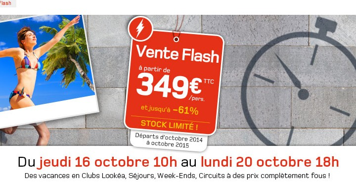 Vente flash Look Voyage