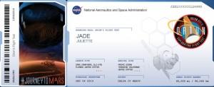 billet pour Mars