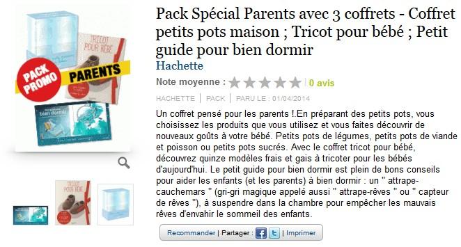 pack 3 coffrets Spécial Parents