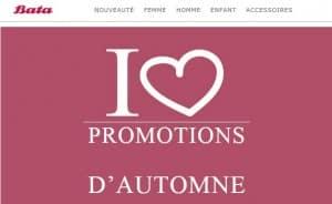 promotions d'Automne Bata