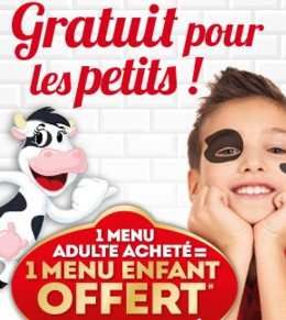 repas enfant gratuit La Boucherie
