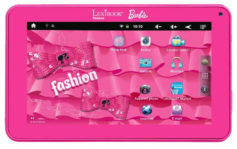 tablette tactile Barbie Lexibook a 49 euros