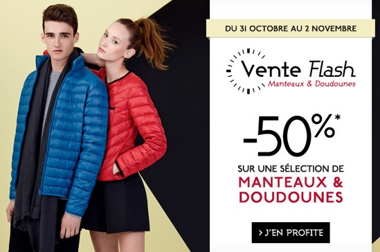 vente flash  doudoune ou manteau