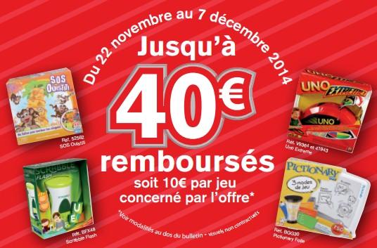 1 jeu Mattel achete  10 euros rembourses