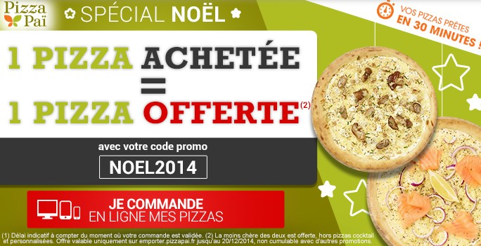 1 pizza Pizza Pai gratuite
