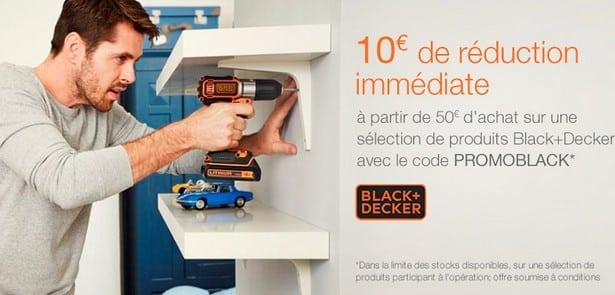 10 euros de remise Black et Decker