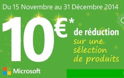 10 euros rembourses accessoire PC Microsoft