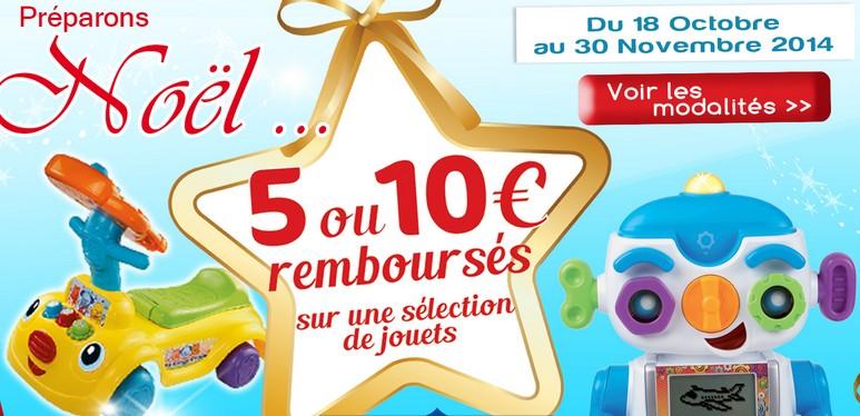 10 euros rembourses sur jouets VTech