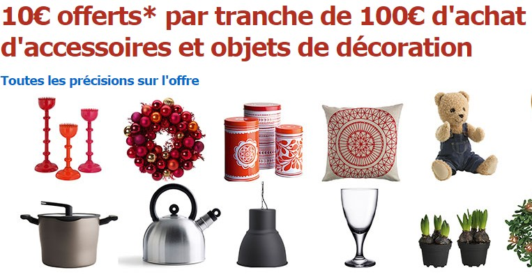 bon plan ikea 10 euros tous les 100 euros d co bons plans bonnes affaires bons plans bonnes. Black Bedroom Furniture Sets. Home Design Ideas