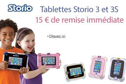 15 euros de remise immédiate Storio 3 Vtech