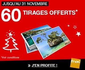 60 tirages photos offerts