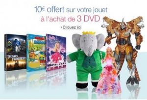Achetez 3 DVD jeunesses et obtenez 10 euros de remises