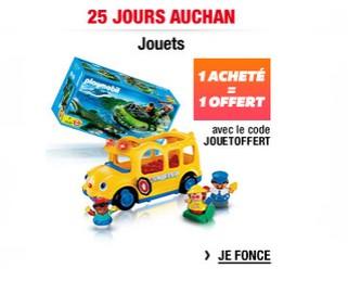 Auchan 1 jouet offert