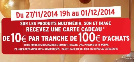 Black Friday Darty 10 euros offerts