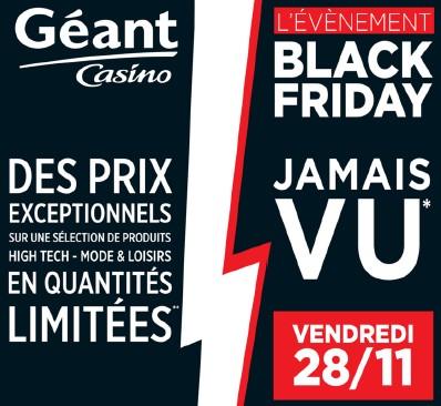 Black Friday Geant Casino