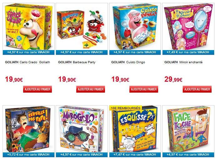 Bon plan jeux Goliath Auchan et 10 euros remboursés