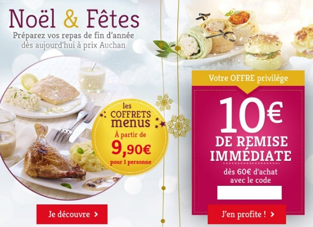 Code promo Traiteur Auchan