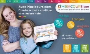 Cours de soutien Maxicours moitié prix