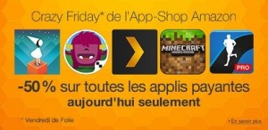 Crazy Friday sur son App-store Android
