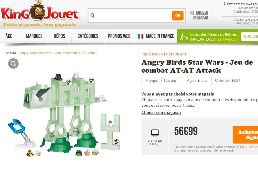 Jeu de combat AT-AT Attack Angry Birds Star Wars Hasbro